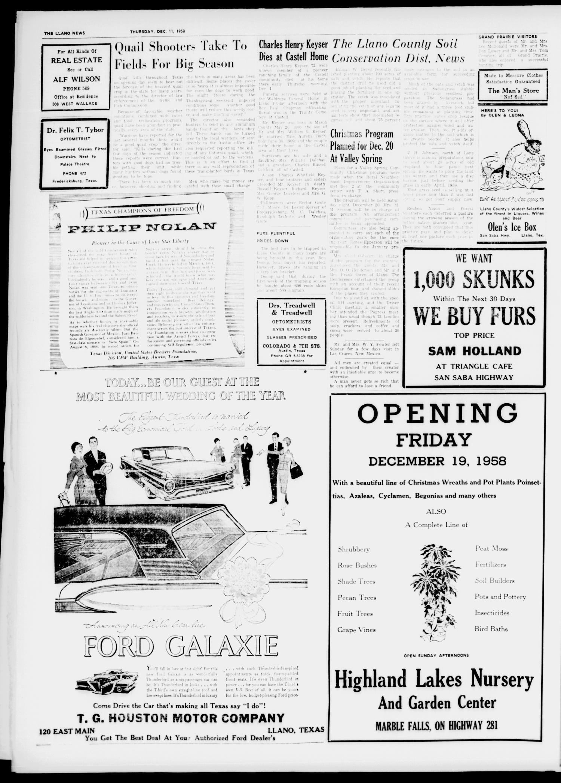 The Llano News (Llano, Tex ), Vol  70, No  2, Ed  1 Thursday