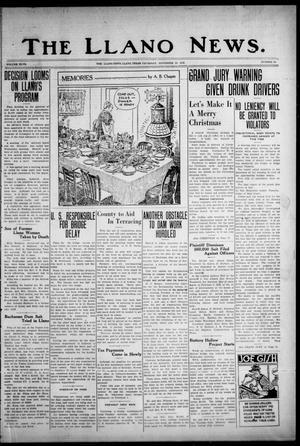 Primary view of The Llano News. (Llano, Tex.), Vol. 47, No. 50, Ed. 1 Thursday, November 28, 1935