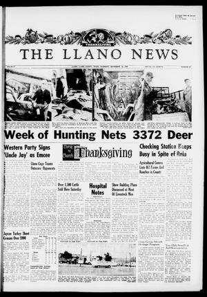 Primary view of object titled 'The Llano News (Llano, Tex.), Vol. 71, No. 52, Ed. 1 Thursday, November 24, 1960'.