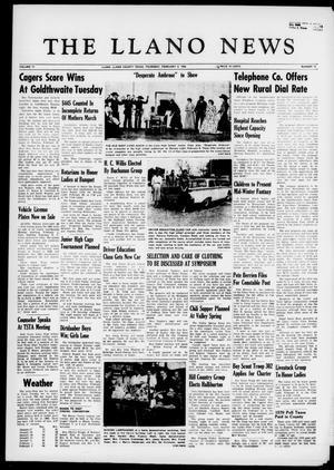The Llano News (Llano, Tex.), Vol. 71, No. 10, Ed. 1 Thursday, February 4, 1960