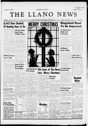 The Llano News (Llano, Tex.), Vol. 72, No. 4, Ed. 1 Thursday, December 22, 1960
