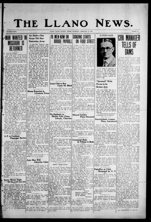 Primary view of object titled 'The Llano News. (Llano, Tex.), Vol. 48, No. 11, Ed. 1 Thursday, February 27, 1936'.