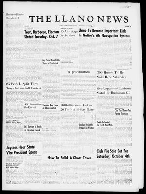 The Llano News (Llano, Tex.), Vol. 69, No. 44, Ed. 1 Thursday, October 2, 1958