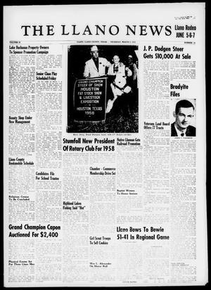 The Llano News (Llano, Tex.), Vol. 69, No. 14, Ed. 1 Thursday, March 6, 1958