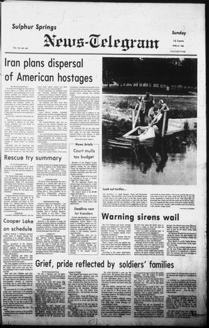Primary view of object titled 'Sulphur Springs News-Telegram (Sulphur Springs, Tex.), Vol. 102, No. 100, Ed. 1 Sunday, April 27, 1980'.
