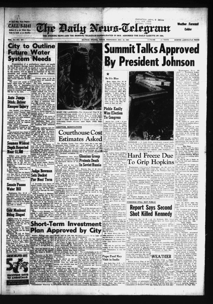 The Daily News-Telegram (Sulphur Springs, Tex ), Vol  85, No  297