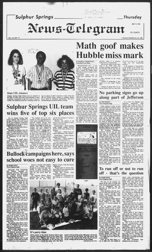 Primary view of object titled 'Sulphur Springs News-Telegram (Sulphur Springs, Tex.), Vol. 112, No. 111, Ed. 1 Thursday, May 10, 1990'.