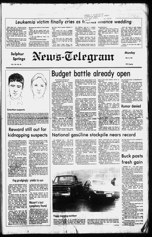 Primary view of object titled 'Sulphur Springs News-Telegram (Sulphur Springs, Tex.), Vol. 103, No. 39, Ed. 1 Monday, February 16, 1981'.