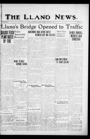 Primary view of object titled 'The Llano News. (Llano, Tex.), Vol. 48, No. 42, Ed. 1 Thursday, September 17, 1936'.