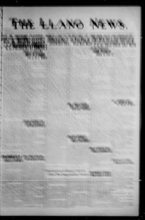 Primary view of object titled 'The Llano News. (Llano, Tex.), Vol. 47, No. 15, Ed. 1 Thursday, March 21, 1935'.