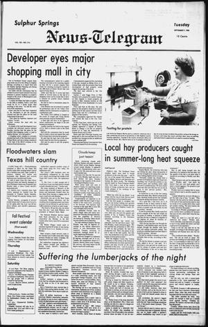 Primary view of object titled 'Sulphur Springs News-Telegram (Sulphur Springs, Tex.), Vol. 102, No. 214, Ed. 1 Tuesday, September 9, 1980'.