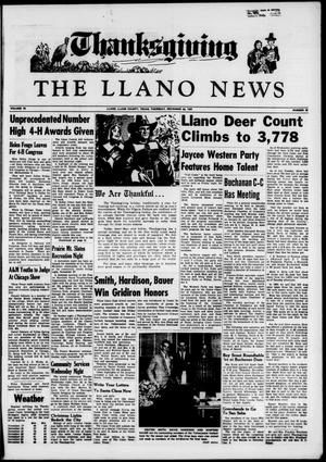 Primary view of object titled 'The Llano News (Llano, Tex.), Vol. 70, No. 52, Ed. 1 Thursday, November 26, 1959'.