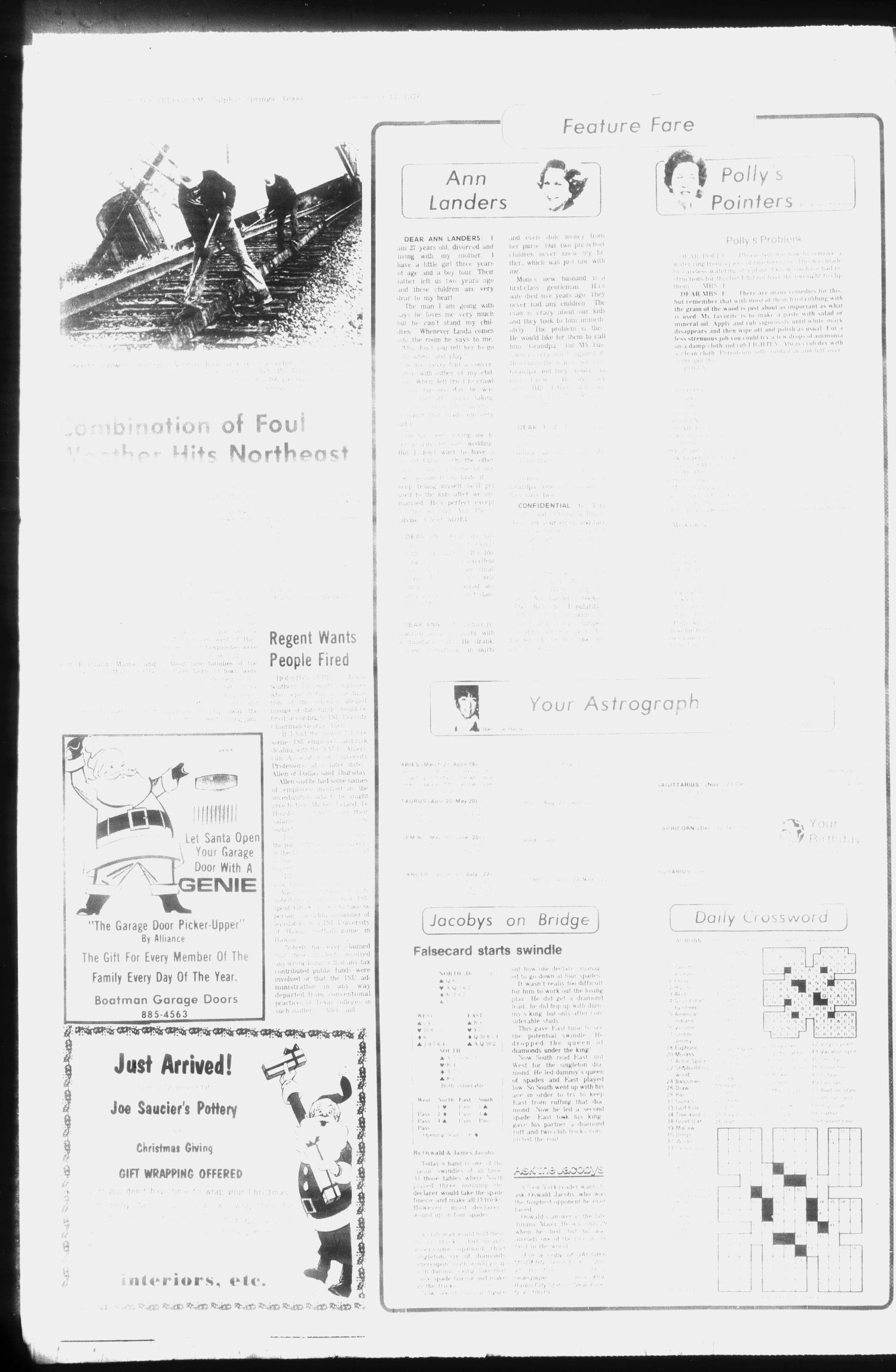 The Daily News-Telegram (Sulphur Springs, Tex.), Vol. 98, No. 298, Ed. 1 Friday, December 17, 1976                                                                                                      [Sequence #]: 4 of 20