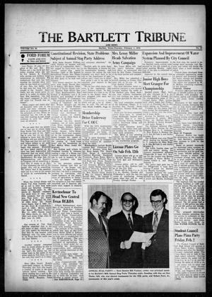 Primary view of object titled 'The Bartlett Tribune and News (Bartlett, Tex.), Vol. 86, No. 15, Ed. 1, Thursday, February 1, 1973'.