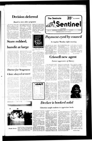 Primary view of object titled 'The Seminole Sentinel (Seminole, Tex.), Vol. 79, No. 100, Ed. 1 Wednesday, October 15, 1986'.