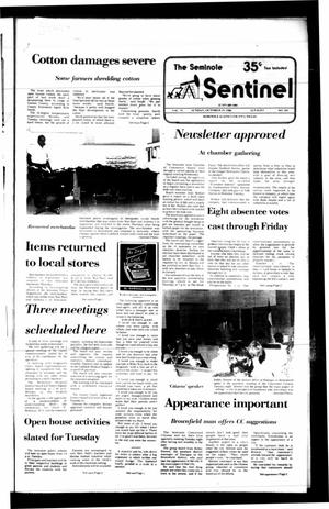 Primary view of object titled 'The Seminole Sentinel (Seminole, Tex.), Vol. 79, No. 101, Ed. 1 Sunday, October 19, 1986'.