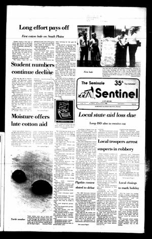 Primary view of object titled 'The Seminole Sentinel (Seminole, Tex.), Vol. 79, No. 87, Ed. 1 Sunday, August 31, 1986'.