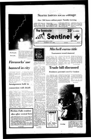 Primary view of object titled 'The Seminole Sentinel (Seminole, Tex.), Vol. 79, No. 70, Ed. 1 Wednesday, July 2, 1986'.