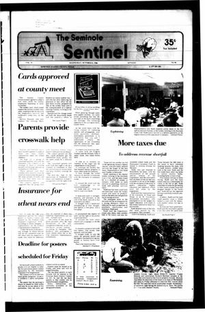Primary view of object titled 'The Seminole Sentinel (Seminole, Tex.), Vol. 79, No. 98, Ed. 1 Wednesday, October 8, 1986'.