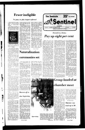 Primary view of object titled 'The Seminole Sentinel (Seminole, Tex.), Vol. 79, No. 103, Ed. 1 Sunday, October 26, 1986'.