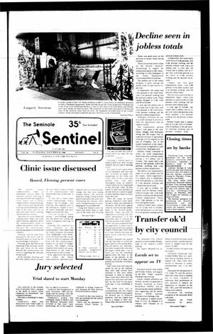 Primary view of object titled 'The Seminole Sentinel (Seminole, Tex.), Vol. 80, No. 8, Ed. 1 Wednesday, November 26, 1986'.