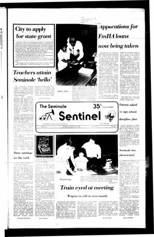 Primary view of object titled 'The Seminole Sentinel (Seminole, Tex.), Vol. 79, No. 85, Ed. 1 Sunday, August 24, 1986'.