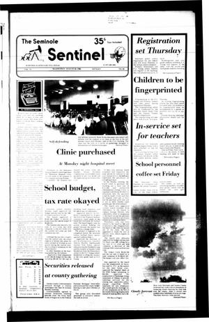 Primary view of object titled 'The Seminole Sentinel (Seminole, Tex.), Vol. 79, No. 84, Ed. 1 Wednesday, August 20, 1986'.