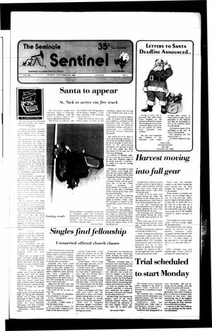 Primary view of object titled 'The Seminole Sentinel (Seminole, Tex.), Vol. 80, No. 9, Ed. 1 Sunday, November 30, 1986'.