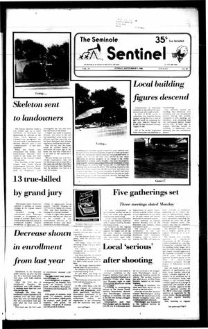 Primary view of object titled 'The Seminole Sentinel (Seminole, Tex.), Vol. 79, No. 89, Ed. 1 Sunday, September 7, 1986'.