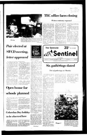 Primary view of object titled 'The Seminole Sentinel (Seminole, Tex.), Vol. 79, No. 99, Ed. 1 Sunday, October 12, 1986'.