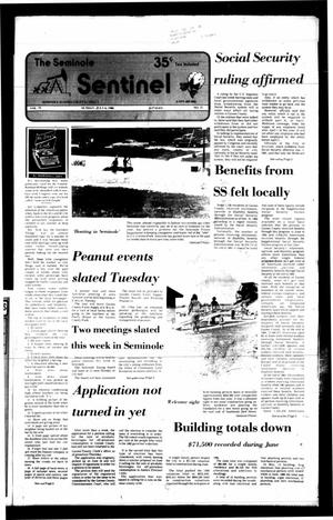 Primary view of object titled 'The Seminole Sentinel (Seminole, Tex.), Vol. 79, No. 71, Ed. 1 Sunday, July 6, 1986'.