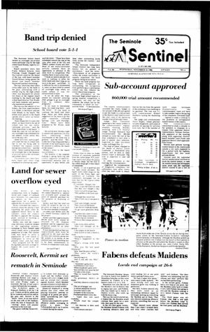Primary view of object titled 'The Seminole Sentinel (Seminole, Tex.), Vol. 80, No. 4, Ed. 1 Wednesday, November 12, 1986'.