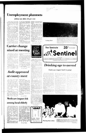 Primary view of object titled 'The Seminole Sentinel (Seminole, Tex.), Vol. 79, No. 86, Ed. 1 Wednesday, August 27, 1986'.