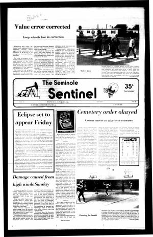 Primary view of object titled 'The Seminole Sentinel (Seminole, Tex.), Vol. 79, No. 96, Ed. 1 Wednesday, October 1, 1986'.