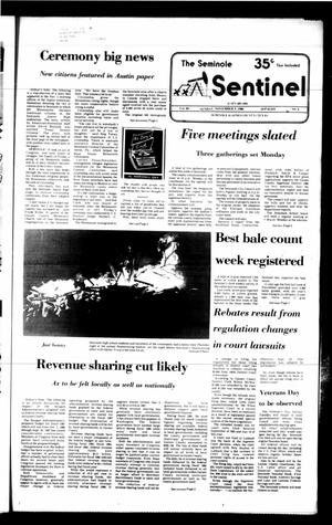 Primary view of object titled 'The Seminole Sentinel (Seminole, Tex.), Vol. 80, No. 3, Ed. 1 Sunday, November 9, 1986'.