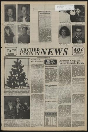 Primary view of object titled 'Archer County News (Archer City, Tex.), No. 50, Ed. 1 Thursday, December 15, 1994'.