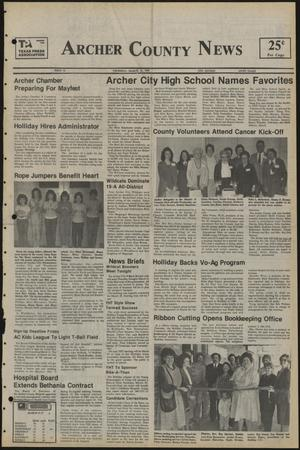 Primary view of object titled 'Archer County News (Archer City, Tex.), No. 12, Ed. 1 Thursday, March 21, 1985'.