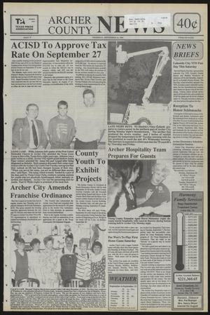 Primary view of object titled 'Archer County News (Archer City, Tex.), No. 37, Ed. 1 Thursday, September 16, 1993'.