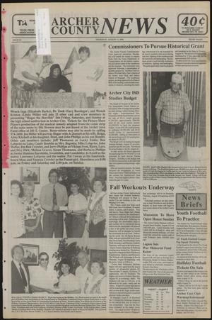 Primary view of object titled 'Archer County News (Archer City, Tex.), No. 32, Ed. 1 Thursday, August 11, 1994'.