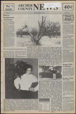 Primary view of object titled 'Archer County News (Archer City, Tex.), No. 5, Ed. 1 Thursday, February 3, 1994'.