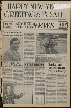 Primary view of object titled 'Archer County News (Archer City, Tex.), No. 52, Ed. 1 Thursday, December 29, 1994'.