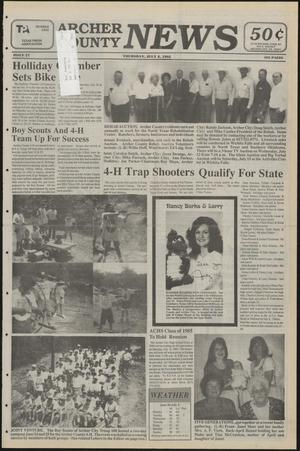 Primary view of object titled 'Archer County News (Archer City, Tex.), No. 27, Ed. 1 Thursday, July 6, 1995'.