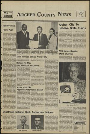 Primary view of object titled 'Archer County News (Archer City, Tex.), No. 46, Ed. 1 Thursday, November 14, 1985'.