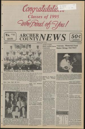 Primary view of object titled 'Archer County News (Archer City, Tex.), No. 21, Ed. 1 Thursday, May 25, 1995'.