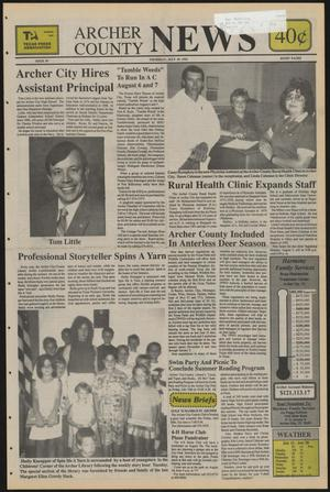 Primary view of object titled 'Archer County News (Archer City, Tex.), No. 30, Ed. 1 Thursday, July 29, 1993'.