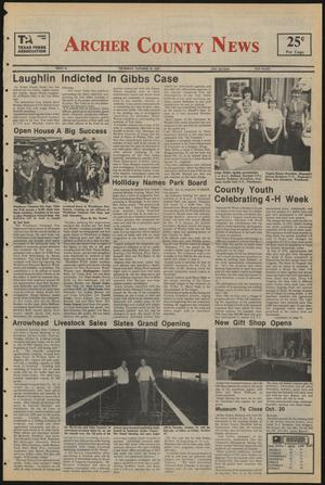 Primary view of object titled 'Archer County News (Archer City, Tex.), No. 41, Ed. 1 Thursday, October 10, 1985'.
