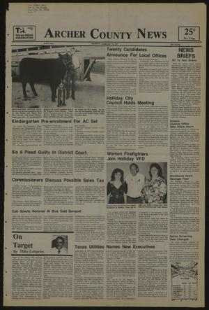 Primary view of object titled 'Archer County News (Archer City, Tex.), No. 9, Ed. 1 Thursday, February 26, 1987'.
