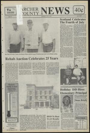 Primary view of object titled 'Archer County News (Archer City, Tex.), No. 27, Ed. 1 Thursday, July 8, 1993'.