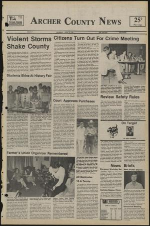 Primary view of object titled 'Archer County News (Archer City, Tex.), No. 17, Ed. 1 Thursday, April 25, 1985'.