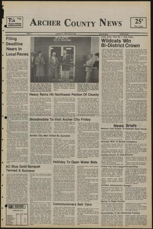 Primary view of object titled 'Archer County News (Archer City, Tex.), No. 9, Ed. 1 Thursday, February 28, 1985'.